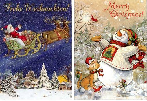 božićna čestitka na njemačkom jeziku BOŽIĆNI I NOVOGODIŠNJI PRAZNICI! –